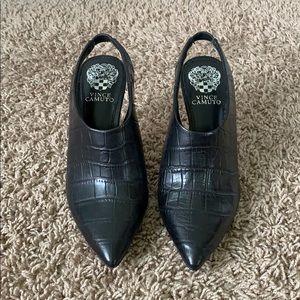Vince Camuto Amnedra leather croc print heel